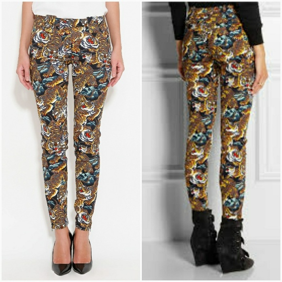 d0c83d785de2 Kenzo Pants - Kenzo Flying Tiger Printed Trouser